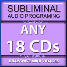 ANY 18 SELF HELP CDs Subliminal Hypnosis Works STATE OF THE ART MIND PROGRAMMING