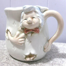 DESPERATE PROFESSOR/BUSINESSMAN ESCAPING~CERAMIC MUG/CUP~UNKNOWN MARK
