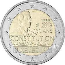2 Euro Gedenkmünze Luxemburg 2018 bfr. - 150 Jahre Verfassung - ab Lager