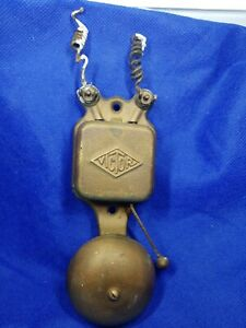 Vintage Electric Steel  Door Bell Ringer/kitchen service alert bell Collectible