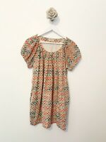 people tree Cotton blouse top Summer Green Mix bohemian SZ 10 casual