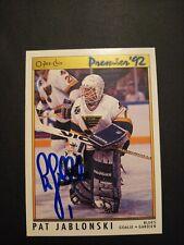 1991-92 O-PEE-CHEE Premier Pat Jablonski Blues Auto Autographed Signed Card