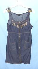 Simply Awesome Roca Wear Jean Dress Girls Size XL 16 School or Church Cotton
