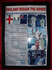 More details for england 2015 ashes winners - framed print