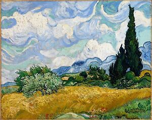 Vincent Van Gogh wheat field painting   print canvas 600mm x 500mm