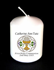 Holy Communion candle  beautiful personalised gift Boy Girl item Unique #1
