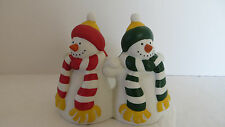 Partylite Holiday Snowmen Pillar Holder