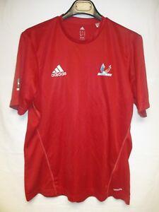 Maillot badminton équipe de FRANCE universitaire ADIDAS rouge porté M