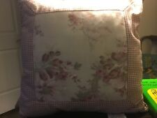 French Country/Cottage-16 X 16-Small Red Checked/Muted Floral Pillow-Nwt-Nice!