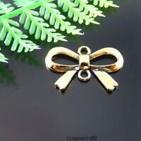 20pcs Vintage Gold Alloy Bowknot BOW Shaped Charms Pendants Jewelry Crafts 51232