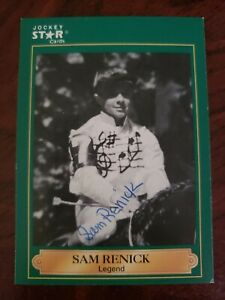 Sam Renick, Autographed 1991 Jockey Star Card #19 (G) Only 1 on Ebay!!