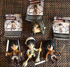 Lot Of (3) Attack On Titan Figures Action Vinyls Even Jaegar Mikasa Ackerman