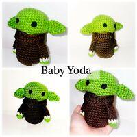 """Baby Yoda"" inspired crochet amigurumi doll stuffed plush"