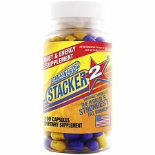 Stacker 2 100 Capsules/Bottle Stacker2 3 Ephedra free Energy & Weight Loss 08/20