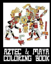 Aztec and Mayan Coloring Book - 26 Designs to Color in - Colouring Book :...