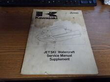 OEM Kawasaki Service Manual Supp 1984-1987 JS440 99924-1091-51