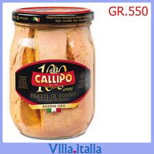 """Tonno all'olio d'oliva """"Callipo"""" Riserva Oro Gr. 550"""
