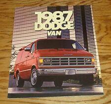 Original 1987 Dodge Van Sales Brochure 87 Ram B150 B250 B350