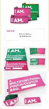 I AM GIRLS' GENERATION SUPER JUNIOR SHINEE SM TOWN GOODS PINK BIG POUCH BAG