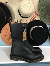 NWT Dr. Martens 1914 Black Smooth 14-Eyelet Boots Size 8 M 9 L 7 UK 41 EU