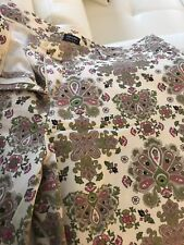 Nicole Miller Paisley Pink And Green Slacks Size 14