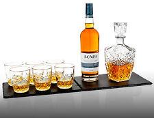 7 Whisky Liqueur Tumblers Bormioli Rocco Glass Bottle Decanter Gift Box Set NEW