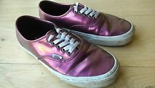 Rosa púrpura brillante Vans, tamaño de Reino Unido 7 Blanco Con Cordones