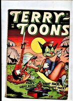 TERRY TOONS 10  TIMELY GOLDEN AGE 1943  mILITARY cover gANDY GOOSE VS JAPAN