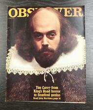 Observer Magazine - John Mortimer:Tim Curry  JOHN MORTIMER  May 8th 1977