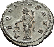 GORDIAN III 239AD Ancient Authentic Genuine Silver Roman Coin Aequitas   i65447