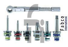 Universal Dental Implant Torque Wrench 10-50 Ncm With Hex Driver 1.25 & 2.42mm
