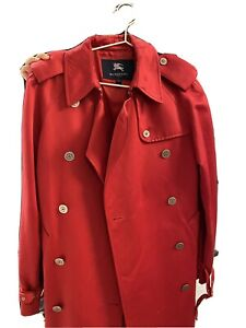 Burberry trench coat  in red - US size 4