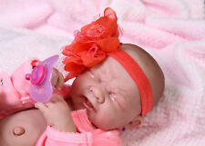 14inch Handmade Realistic Girl Baby Vinyl Girl Crying Reborn Doll Soft Silicone