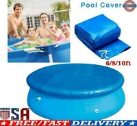 6/8/10Ft Round Swimming Easy Set Pool Cover for Frame Pools Inflatable Fast USA