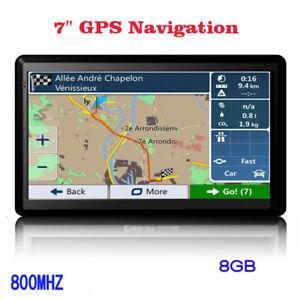 "7"" SAT NAV 8GB Car Truck HGV LGV GPS Navigation UK EU Lifetime Map POI 8GB 12V"
