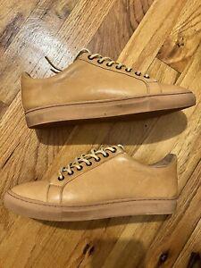 Thursday Boot Co Premier Low Top Tan Essex Leather Men's Sneakers - Men's Sz 7