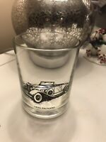 Vtg Tumbler Drinking Glass 1930 Packcard  Car High Ball Rocks Cocktail