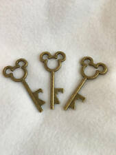 Mickey Mouse Shaped Bottle Opener - Antique Gold - Skeleton Key Chain