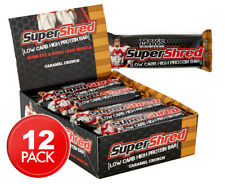12 x Max's Super Shred Low Carb High Protein Bar 60g - Caramel Crunch