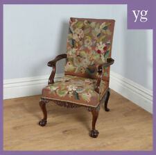 Mahogany Victorian Antique Chairs Armchairs