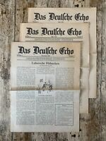 VINTAGE Das Deutsche Echo German Newspaper Magazine Bundle x 3 1930/1931