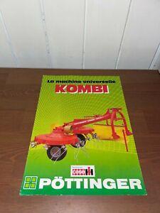 brochure prospekt PROSPECTUS ANDAINEUR CASE-IH POTTINGER KOMBI tracteur-someca