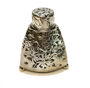 Gorham Sterling Silver Tea Caddy, 1869