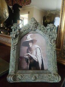 """Vintage Gothic Framed Witch Photo Frame 9.5"""" x 7"""" Odd Strange & Bizarre"""