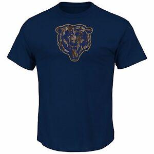 Chicago Bears Navy Camo Tek Patch T-Shirt