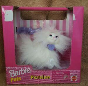 1998 Barbie Pets Persian ~ White persian cat ~ New - 67572-91