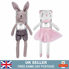 Traditional Knitted Toys | 40Cm Bunny Cat Cotton Plush Toy Stuffed Animal Gift