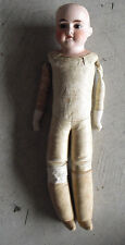 """Vintage 1920s Bisque Kid Leather German Lily 4/0 Doll 18"""" Tall A Little TLC"""