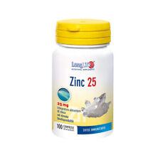Long Life Zinc 25 100 Comprimés Complément Alimentaire pour Cheveux Peau Ongles