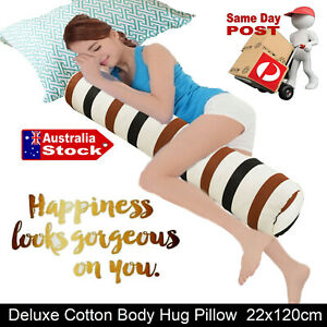 LUXURY LONG BODY HUG PILLOW BEDDING BED SOFA CUSHION PREGNANCY BOLSTER NURSING